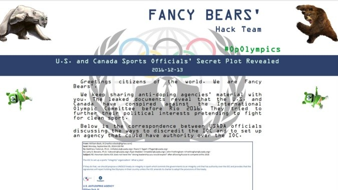 Новости Fancy Bears