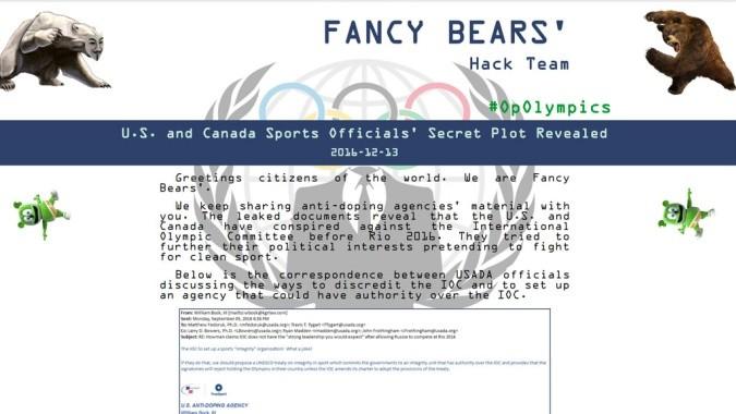 Новости Fancy Bears