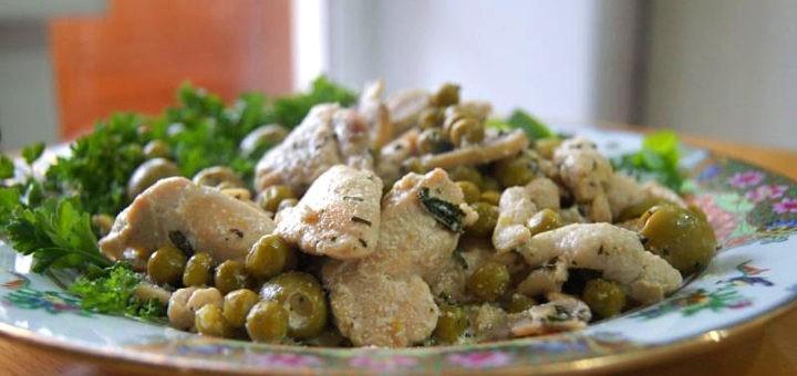 Мясо по-французски с курицей рецепт пошагово с картофелем