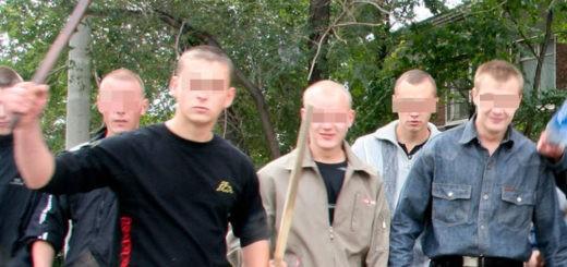 троица молодчиков избила двух парней