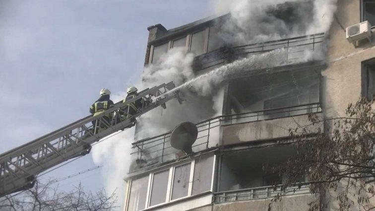 пожар в жилой многоэтажке