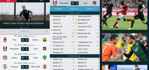 приложение «Футбол России»
