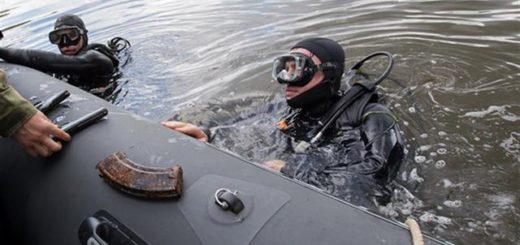тайник с оружием на дне Москвы-реки