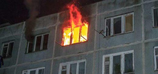 выпрыгнула из горящей квартиры