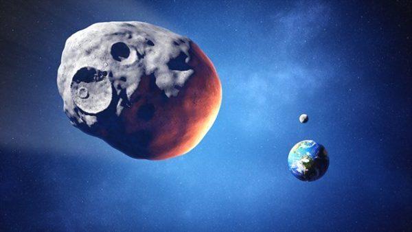 огромный астероид