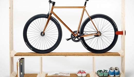 Специальная мебель на заказ с отсеком под велосипед